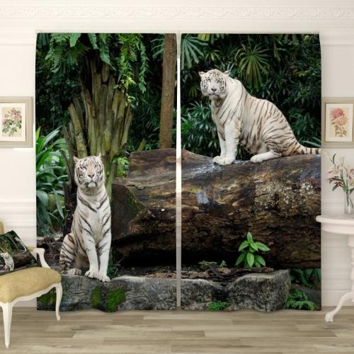 Фотошторы Белые тигрята