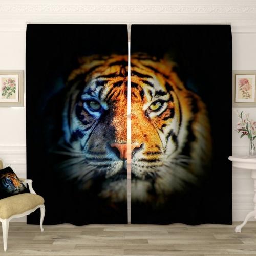 Фотошторы Суровый тигр