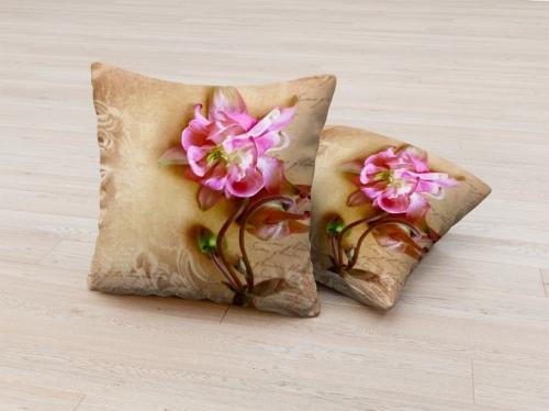 Фотоподушка Фреска с цветком 1