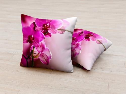 Фотоподушка Розовая орхидея 2