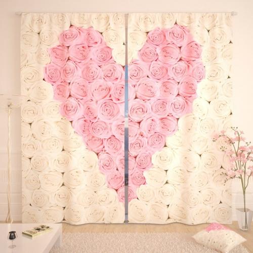 Фотошторы Розовое сердце