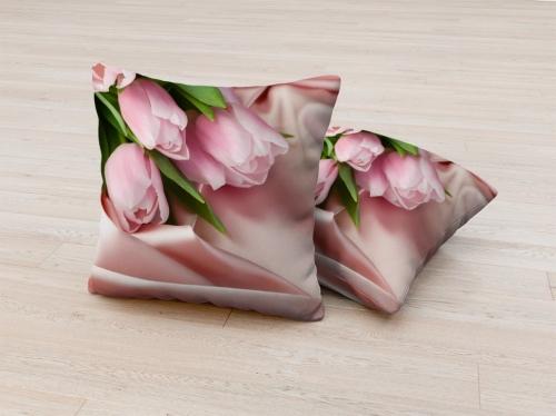 Фотоподушка Нежнейшие тюльпаны