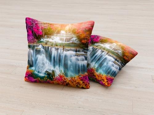 Фотоподушка Солнечный водопад