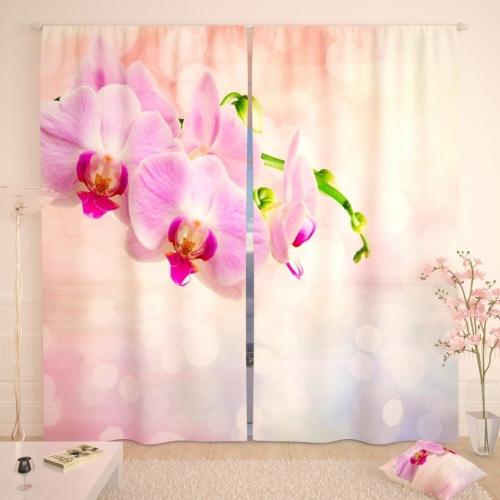 Фотошторы Нежно-розовые орхидеи