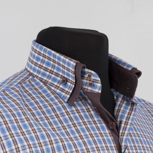 Мужская рубашка 223-11-m22s-lbu