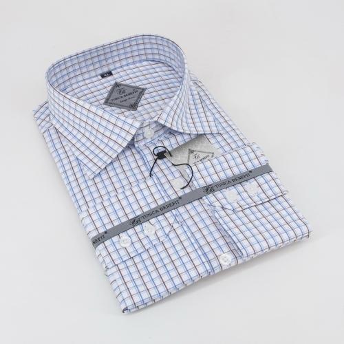 Мужская рубашка 400-2-m11n-scbrn