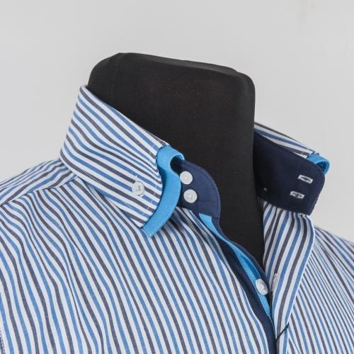 Мужская рубашка 236-2-m22s-stbrz