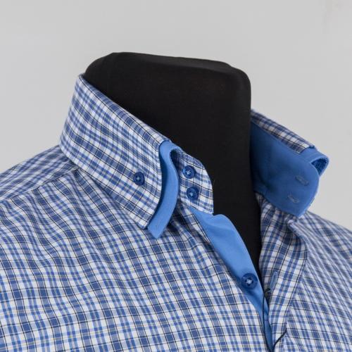 Мужская рубашка 223-12-m22s-blu
