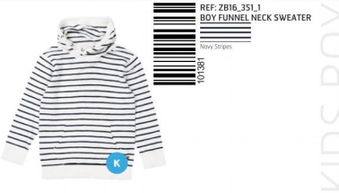 SWEATER KNITTED STRIPES BLUE