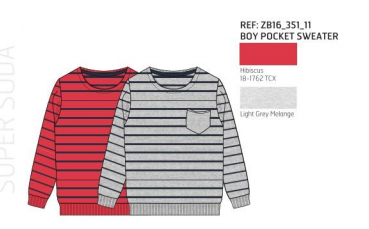 SWEATER KNITTED STRIPES RED
