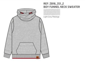 SWEATER KNIT FUNNEL NECK GREY