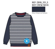 SWEATER KNITTED STRIPES NAVY