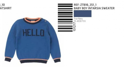 SWEATER KNITTED SMILE DK BLUE
