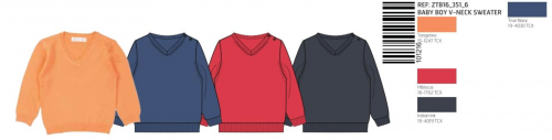 SWEATER KNITTED V/NECK