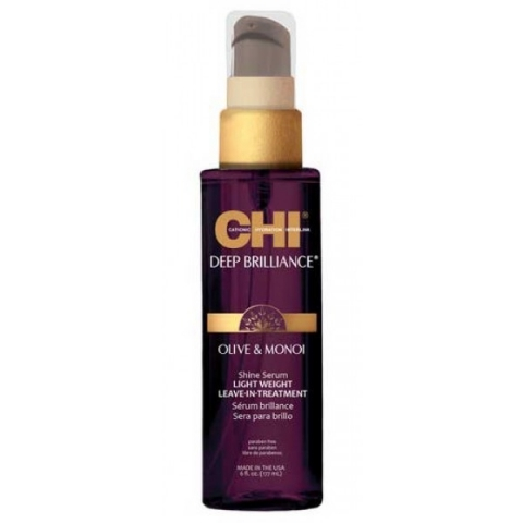 CHI DEEP BRILLIANCE O & M SHINE SERUM LIGHT WEIGHT LEAVE-IN Сыворотка-сияние несмываемая 177мл.