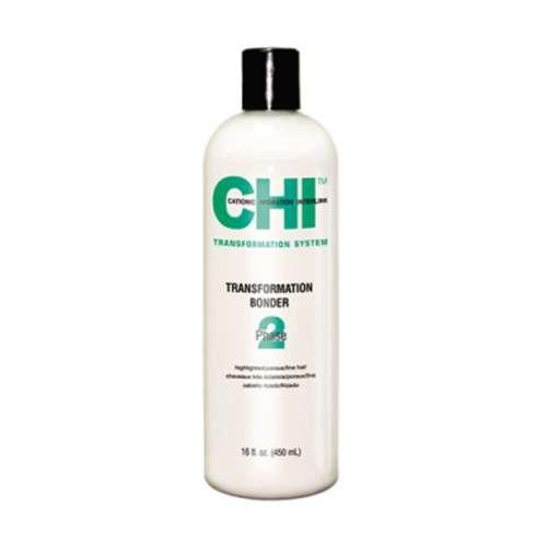 CHI. Transformation System Bondor Phase 2 Treatment Highlighted / Porous / Fine Hair - Преобразующий лосьон №2, формула С (Зеленый), 450 мл