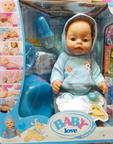 Baby Love No39, пьет, писает при нажатии на пупок (копия Ba*by Bo*rn)