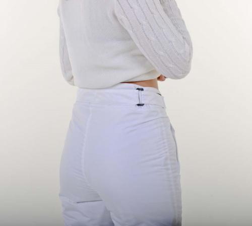 Утепленные женские брюки с высокой посадкой, цвет- белый