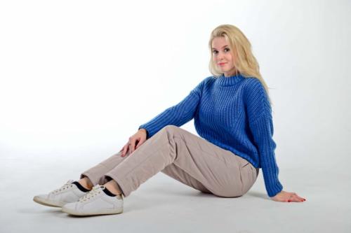 Стеганные утепленные женские брюки с высокой спинкой арт 115PS, цвет - капучино