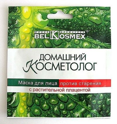 Маска для лица ПРОТИВ СТАРЕНИЯ с растительной плацентой Домашний косметолог Белкосмекс