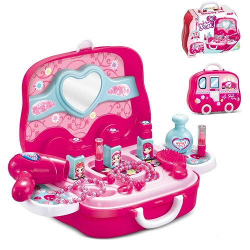 Супер-чемодан косметичка на колесиках+аксессуары