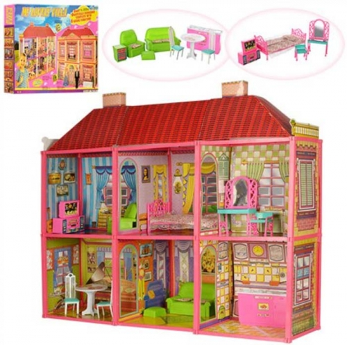 Двухэтажный домик для куклы