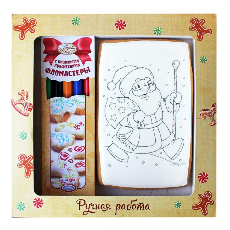 Набор для творчества открытка с фломастерами пряник