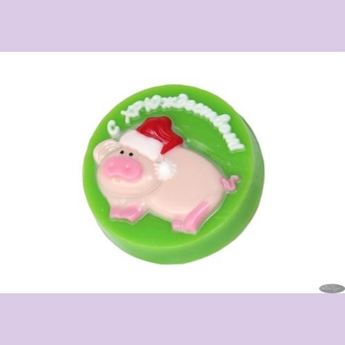 Мыльное ассорти/новогоднее (символ года) С ХРЮЖДЕСТВОМ! ~75±5 гр/шт (кор.№1 пэтф)