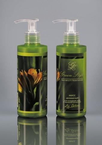 Мусс деликатный для очищения лица и удаления косметики (флак.с доз.200гр) GREEN STYLE LivDel