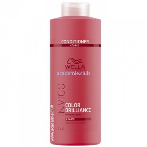 WELLA INVIGO Brilliance Бальзам-уход для защиты цвета окрашенных жестких волос 1л.