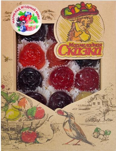 ХИТ! Мармелад желейный: Ассорти ягодный (клюква, черника, малина, черноплодная рябина, брусника)