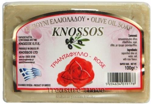 Оливковое мыло с розой