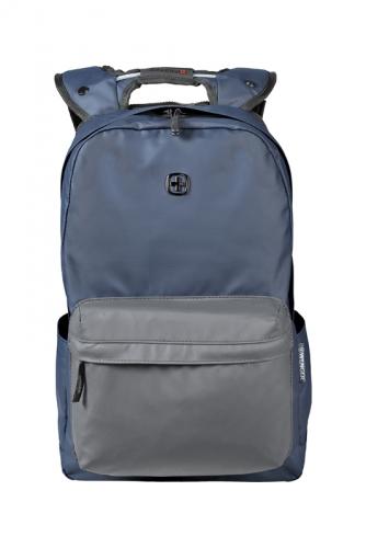 Рюкзак Wenger 14'', с водоотталкивающим покрытием, синий/серый, 28x22x41 см, 18 л