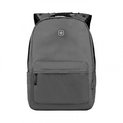 Рюкзак Wenger 14'', с водоотталкивающим покрытием, серый, 28x22x41 см, 18 л