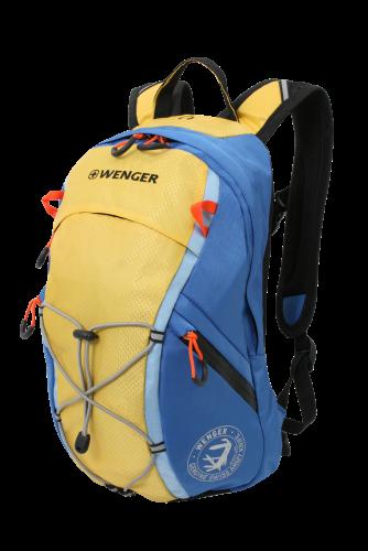 Рюкзак Wenger, желтый/сини, 39х24х15 см, 14 л