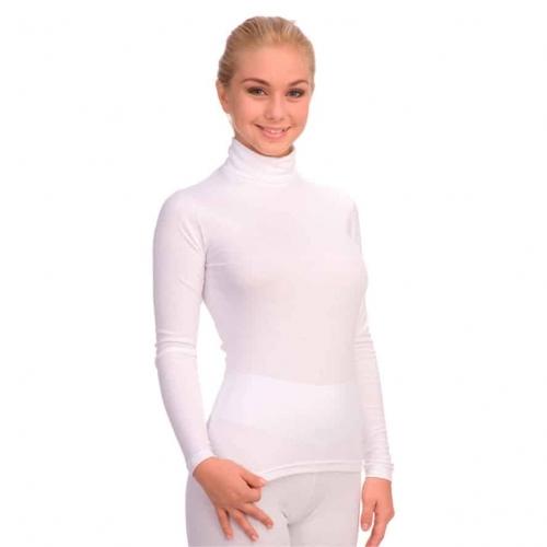 Женская футболка с длинным рукавом и высоким воротником FC625