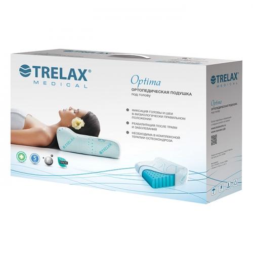 Подушка ортопедическая под голову TRELAX П01 OPTIMA