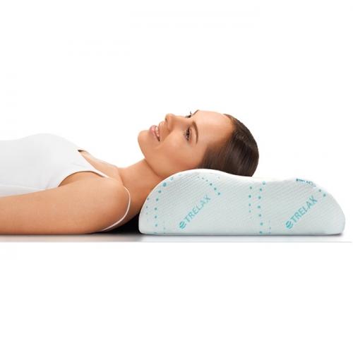 Подушка ортопедическая под голову с эффектом памяти TRELAX П05 RESPECTA