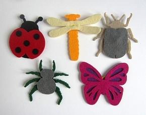 Насекомые из фетра (пальчиковые игрушки)
