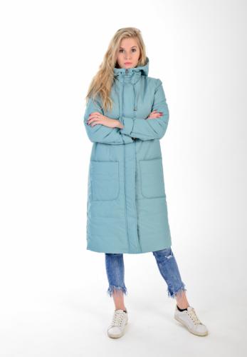 Удлиненное пальто с капюшоном, арт. KG-003 DL