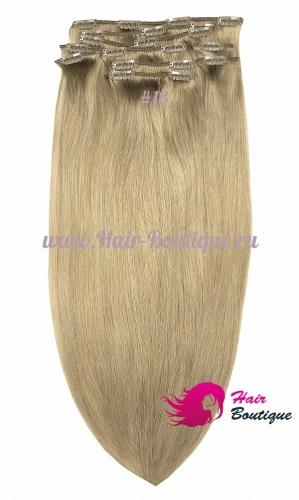 Натуральные волосы на заколках «MEGA» объем 55 см.