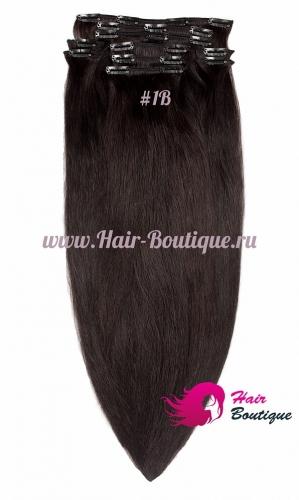 Натуральные волосы на заколках 40 см.