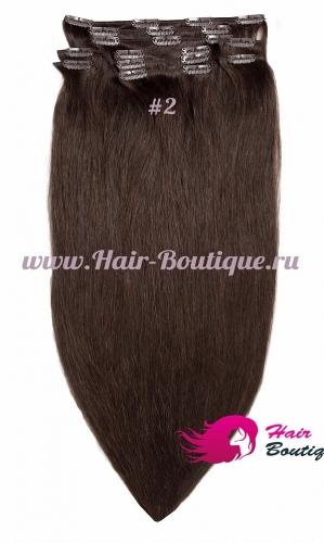 Натуральные волосы на заколках «MEGA» объем 45 см.