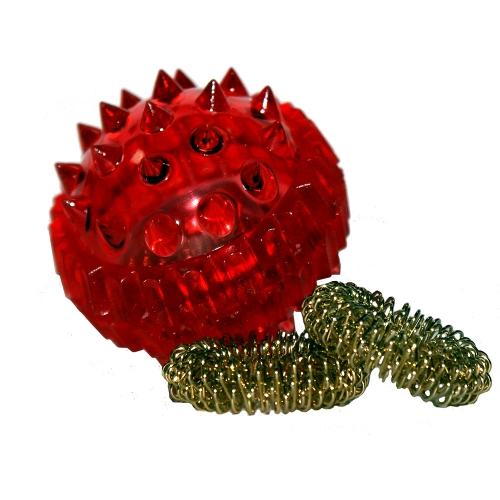 Массажный шарик с двумя массажными кольцами Су Джок
