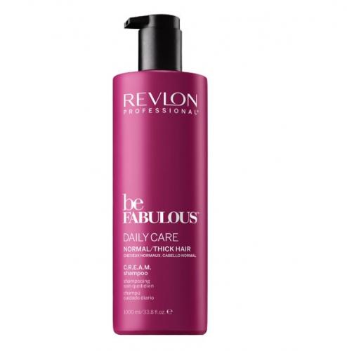 Revlon BE FABULOUS. NORMAL/THICK C.R.E.A.M. CLEANSER Очищающий шампунь для норм./густых волос 1000 мл