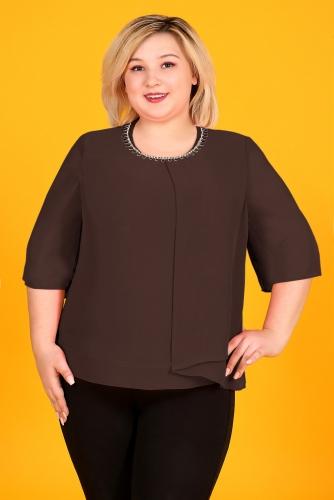 СИМАН 5074 Блуза коричневый