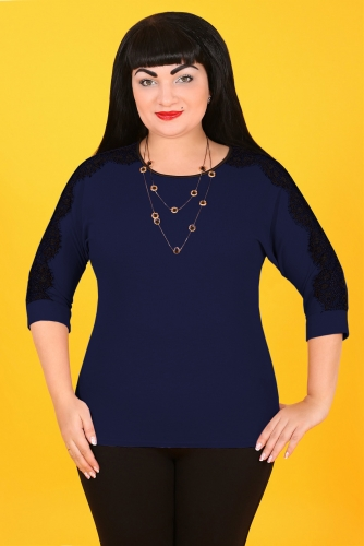 2Г 3412 Блуза синий