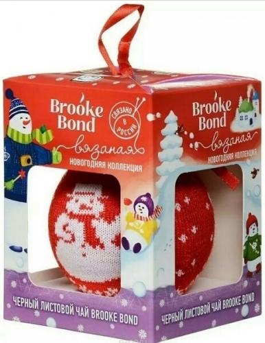 Набор Брук Бонд: Новогодний шарик вязаный с листовым чаем 30г