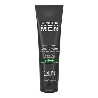 Ollin деликатный шампунь для очищения и восстановления волос MEN