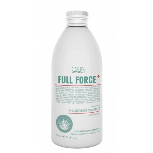 Ollin Full Force увлажняющий шампунь против перхоти с алоэ